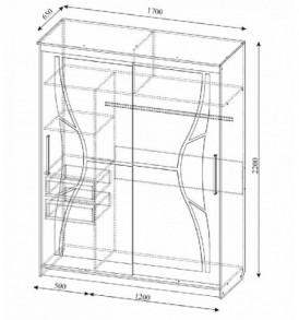Спальня  «Лагуна- 5″ Шкаф- купе №16 1.70