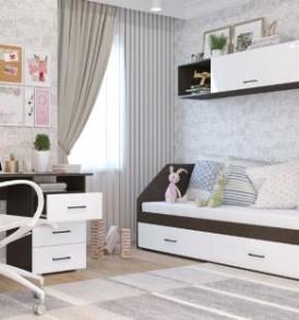 Модульная система  «Нэнси» Кровать 800 2 ящика