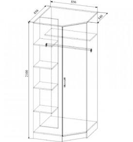 Модульная система » Софи» Шкаф угловой СШУ 860.1