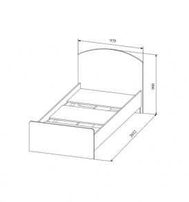Детская  «Радуга» Система  КРД 900.1 (кровать 0,9м) с щитовым основанием
