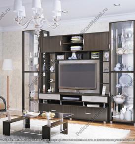 Модульная система «Премьера» ШС (шкаф со стеклом)