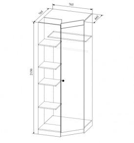 Детская  «Радуга» Система  ШДУ 765.1 (шкаф угловой)